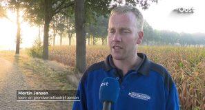 Loonwerkers vroeg uit de veren om mais te hakselen